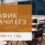 Расписание экзаменов ЕГЭ 2020